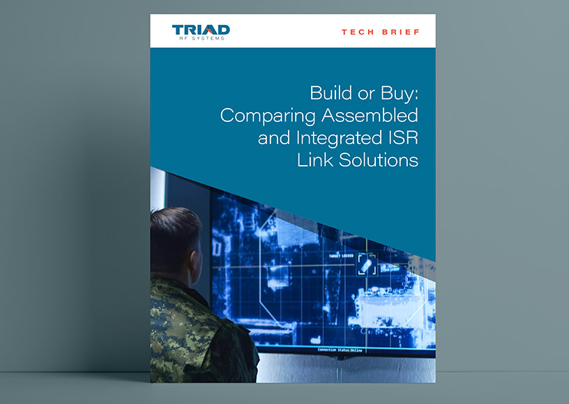 Tech Brief Helps Make Build or Buy Decision of ISR Data Links