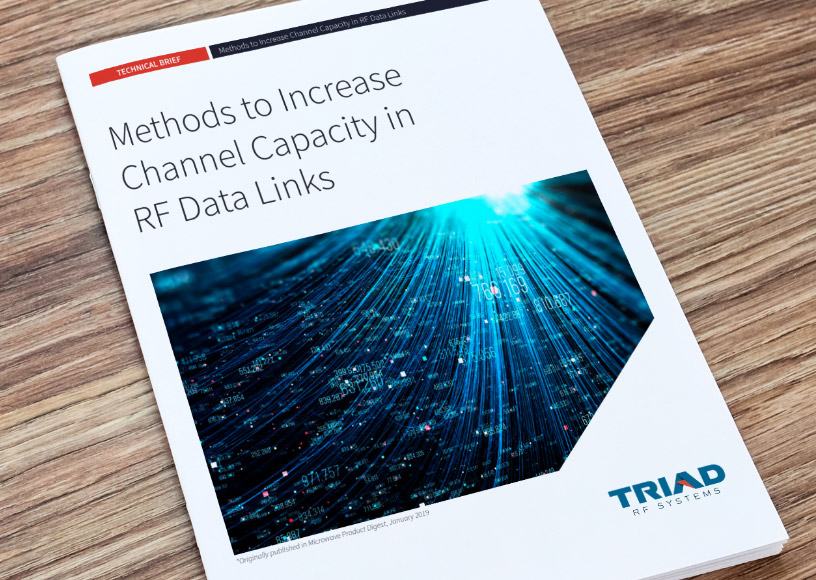 Tech Brief Methods to Increase Channel Capacity in RF Data Links