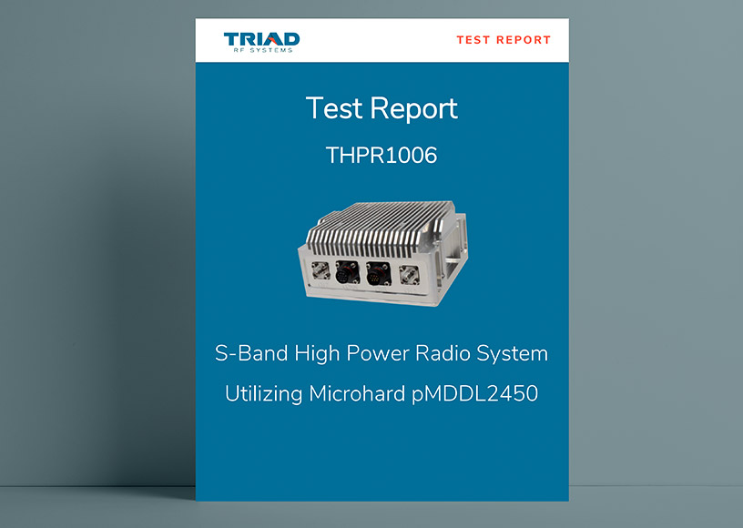 The Microhard pMDDL2450 PicoRadio Achieves Increased Distance Margin by Roughly 450% When Amplified by Triad